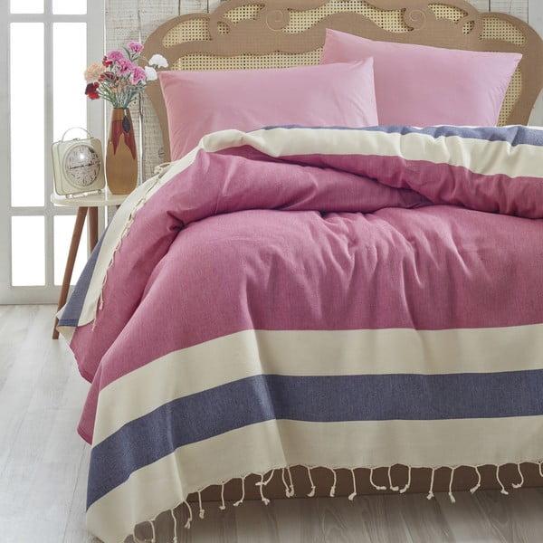 Narzuta na łóżko Buldan Red, 200x235 cm