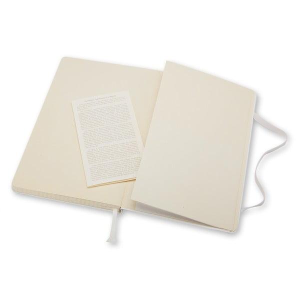 Notatnik Moleskine Hard 21x13 cm, biały + strony w kratkę