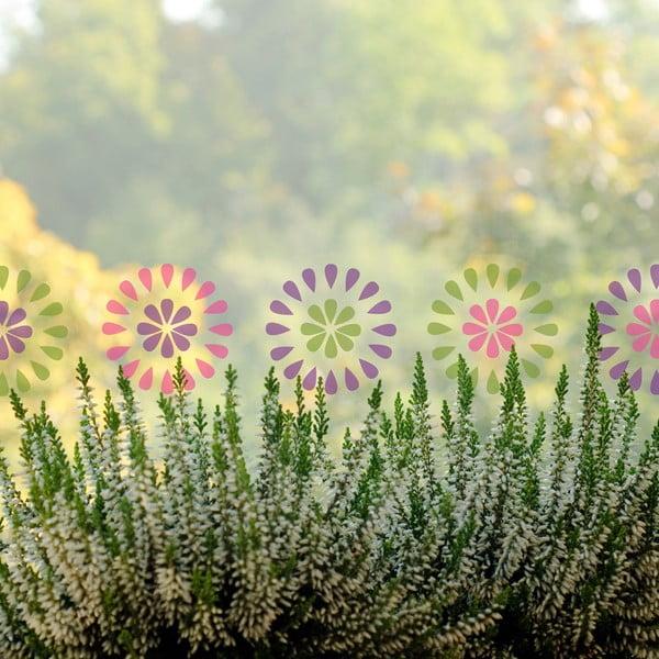 Naklejka na okno Zające i kwiaty