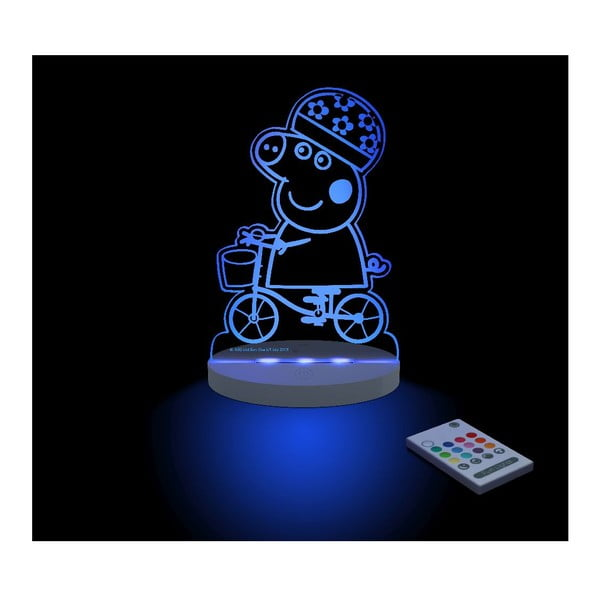 Dziecięca lampka nocna LED Peppa Pig Bici