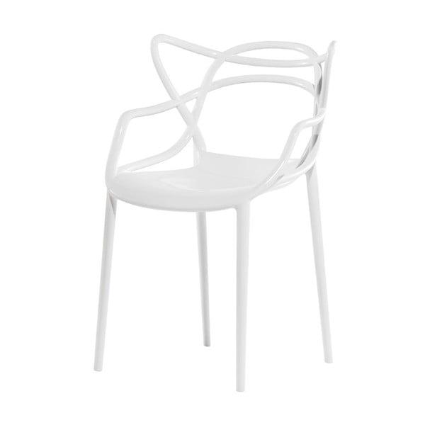 Białe krzesło Kartell Masters