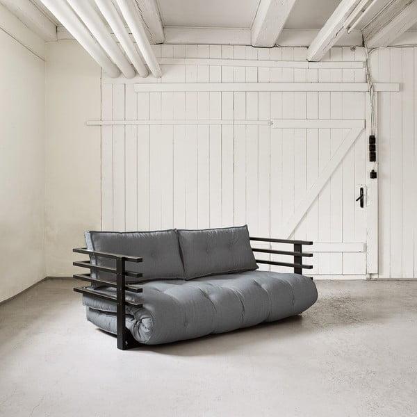 Sofa rozkładana dwuosobowa Karup Funk Black/Gris