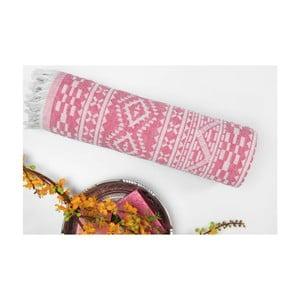 Ręcznik hammam Motif Purple, 100x175 cm
