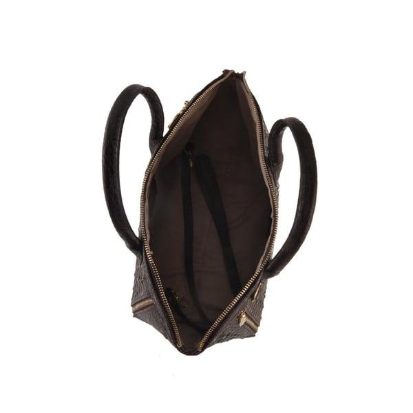 Skórzana torebka Emilio Masi Nunki, czarna