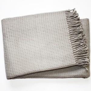 Koc Waffel Light Grey, 140x180 cm