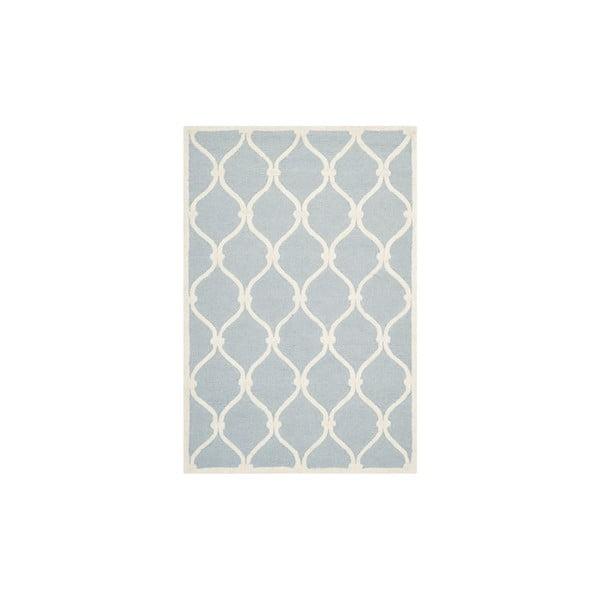 Wełniany dywan Hugo 121x182 cm, niebieski
