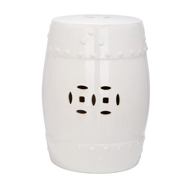 Biały stolik ceramiczny Safavieh Mali
