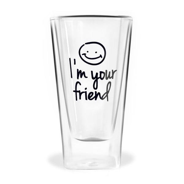 Szklanka z podwójną ścianką Vialli Design Im Your Friend, 300 ml