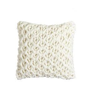 Biała poduszka dzianinowa Denzzo Norway, 45x45cm