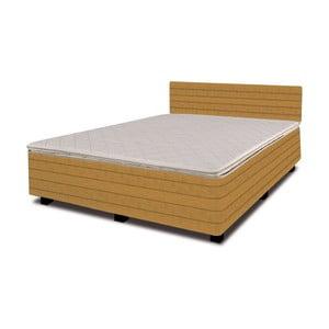 Łóżko z materacem New Star Yellow, 140x200 cm