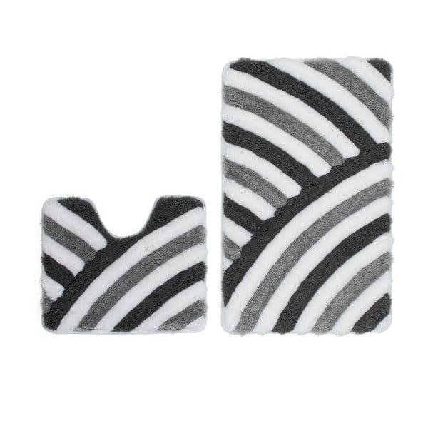 Zestaw 2 dywaników łazienkowych z wcięciem Lobby Grey