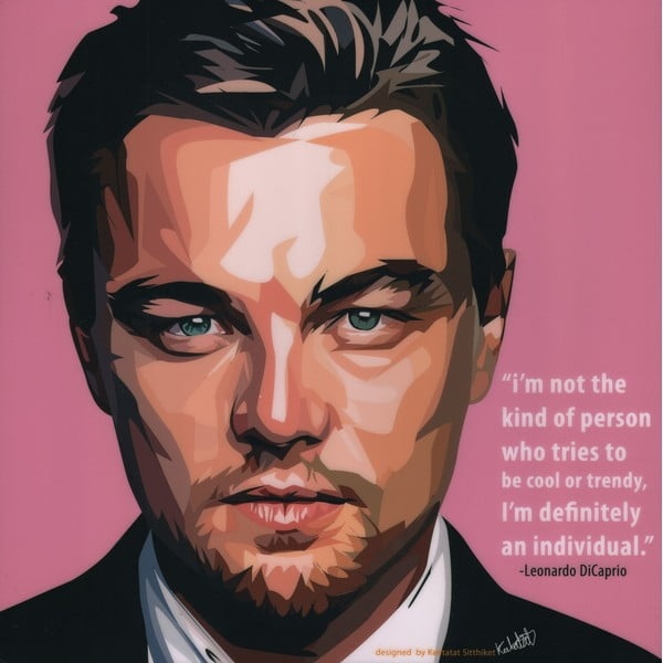 "Obraz ""Leonardo DiCaprio - I'm not the kind of person who"""