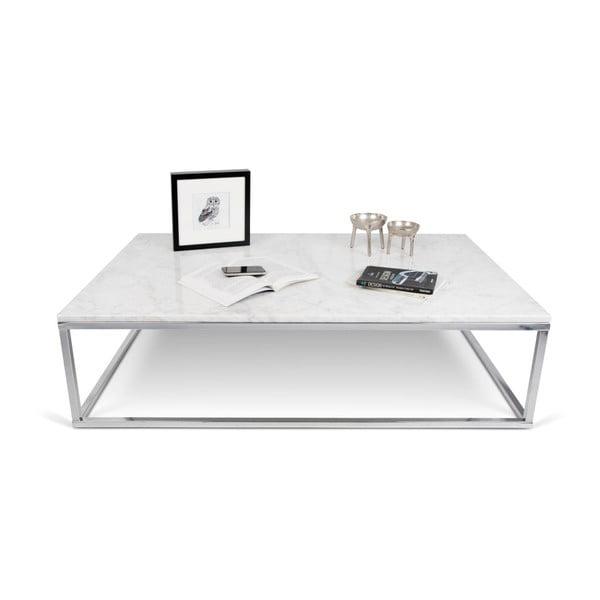 Mały biały stolik TemaHome Prairie Marble