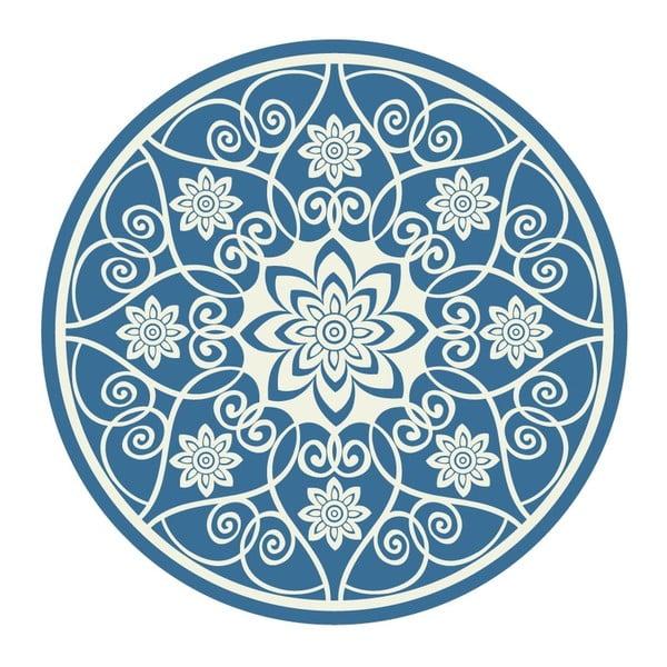 Naklejki Mandala, white/blue, 4 szt