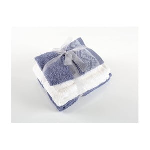 Komplet 4 ręczników z bawełny premium Leron