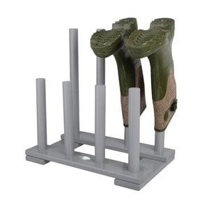 Szary stojak na 4 pary butów z drewna sosnowego Esschert Design