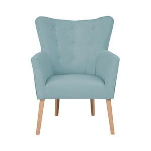 Niebieski fotel z podłokietnikami Micadoni Home Lamarta
