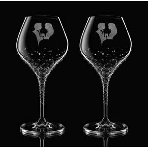 Zestaw 2 kieliszków do wina Romance ze Swarovski Elements w eleganckim opakowaniu