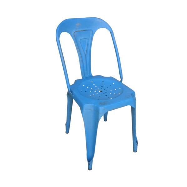 Metalowe krzesło Chaise Bleu