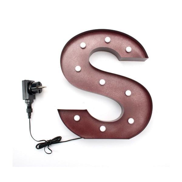 Świecąca dekoracja LED Letter S