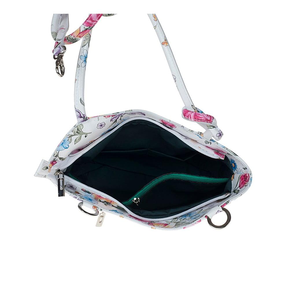 8096220eaf700 ... Biała skórzana torebka w kwiaty Pitti Bags Maude ...