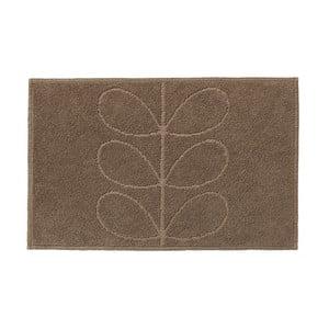 Brązowy dywanik łazienkowy Orla Kiely Jacquard, 50x80 cm