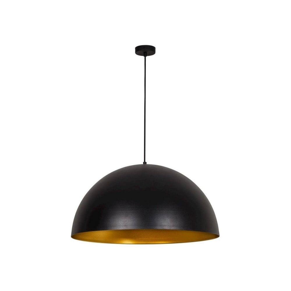 Czarna lampa wisząca z detalem w kolorze złota Hill Rondo Grande