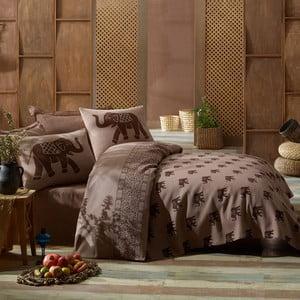 Lekka narzuta z prześcieradłem i poszewkami na poduszki Fil,200x235cm