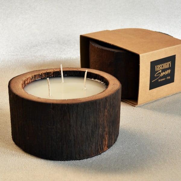 Palmowa świeczka Legno Cera o zapachu wanilii i paczuli, 40 godz