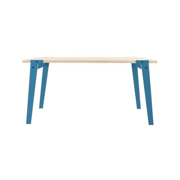 Niebieski stół/biurko rform Switch, blat 150x75 cm