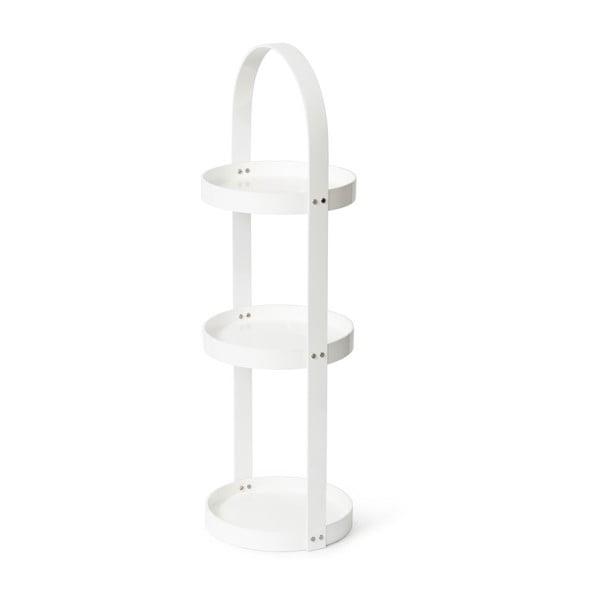 Biały stojak/szafka łazienkowa Wireworks Mezza, 3 półki