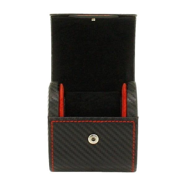 Czarne pudełko na zegarek Friedrich Lederwaren Carbon