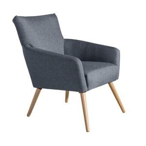 Niebieski fotel Max Winzer Jörn