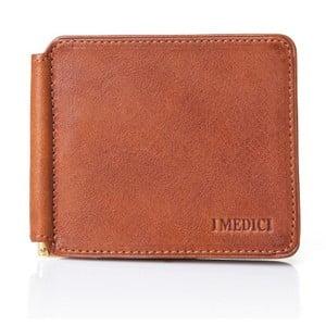 Miodowo-brązowy skórzany portfel męski Medici of Florence Azsuna