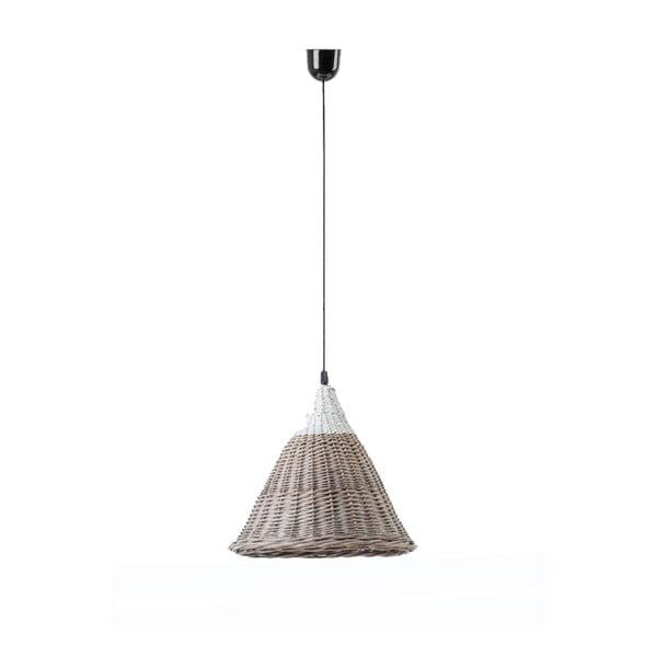 Lampa wisząca Kapi, 22x34 cm, brązowo-biała