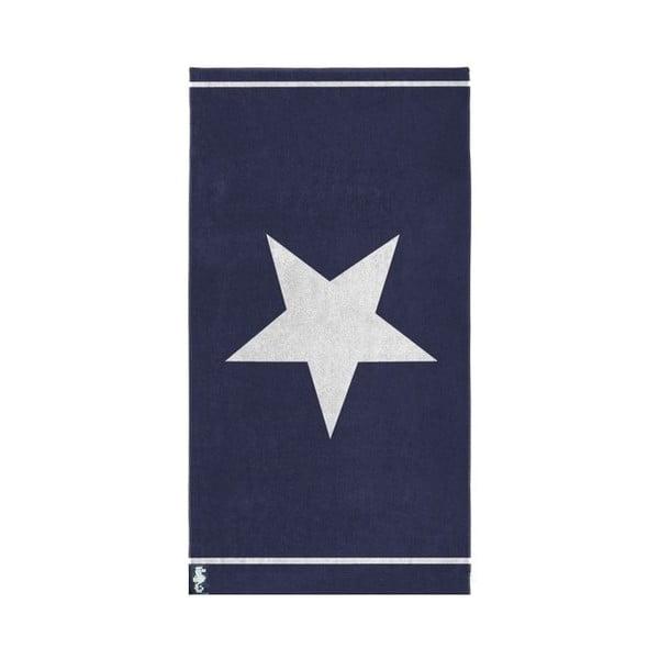 Niebieski ręcznik bawełniany Seahorse Star, 100x180 cm