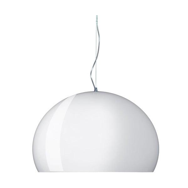 Błyszcząco-biała lampa wisząca Kartell Fly