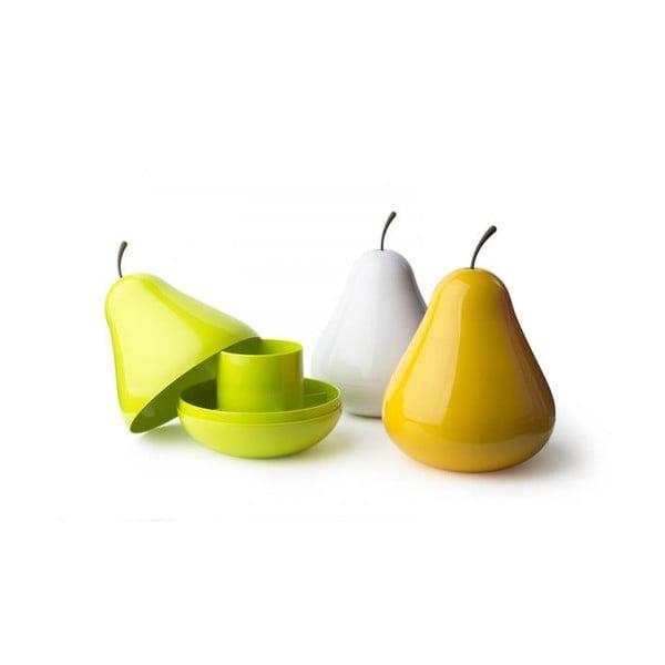 Miska wielofunkcyjna z przykrywką QUALY Pear Pod, żółta