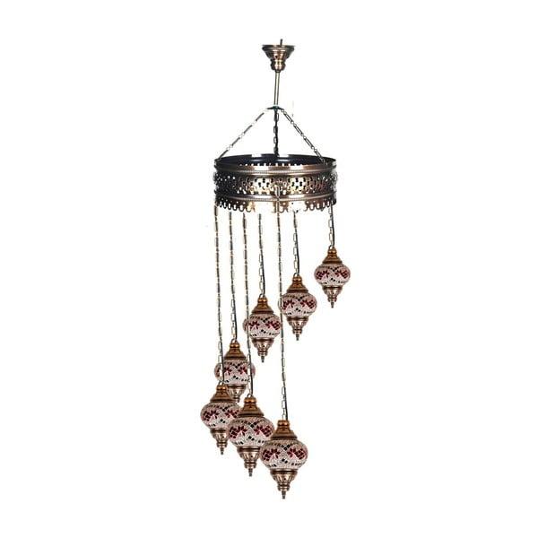 Szklana lampa wisząca Single X, 15 cm
