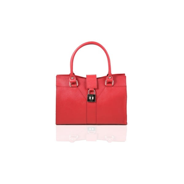 Skórzana torebka Marlene, red