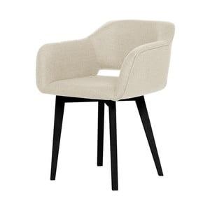 Kremowe krzesło z czarnymi nogami My Pop Design Oldenburg