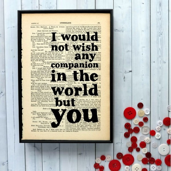 Plakat w drewnianej ramie Shakespeare Companion