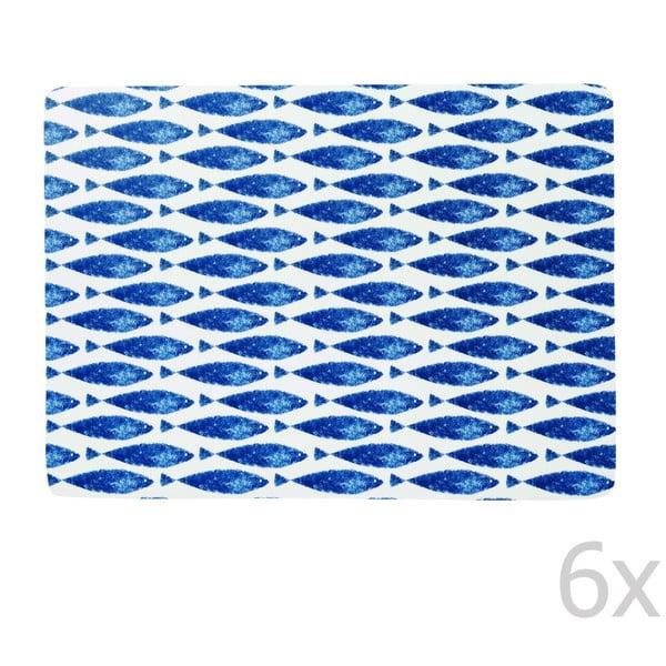 Zestaw 6 mat stołowych Churchill China Fishie