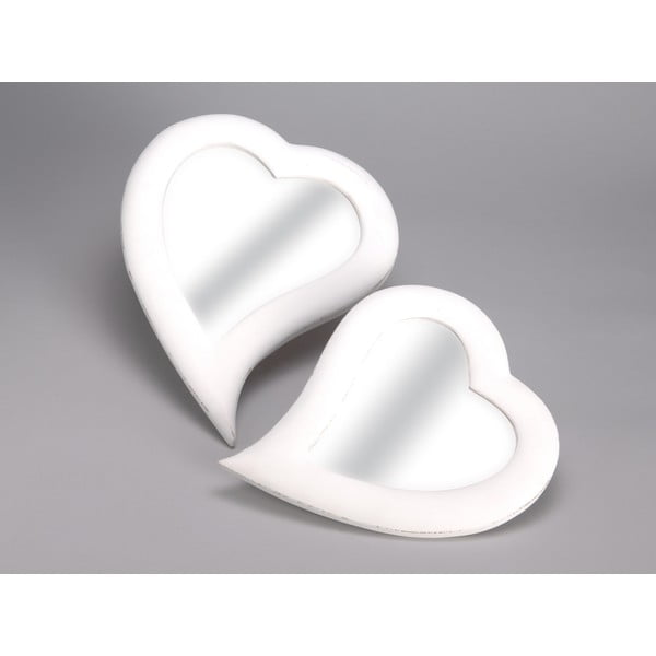 Zestaw 2 luster Heart, 32x40 cm