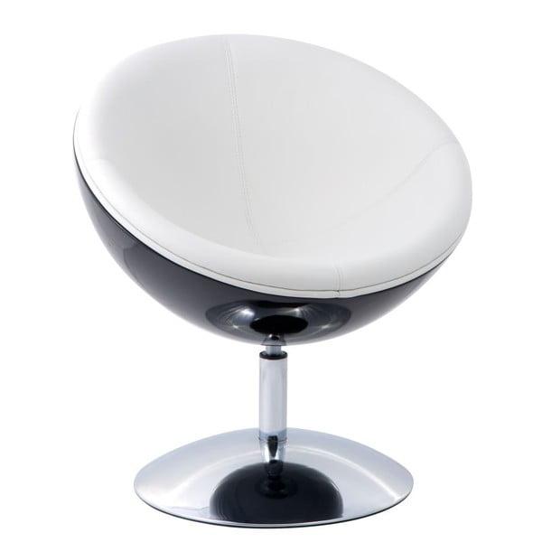 Krzesło obrotowe Mercury, czarne/białe