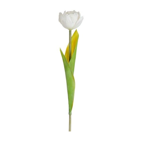 Sztuczny kwiat Tulipan, kremowy