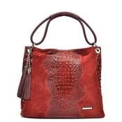 Czerwona skórzana torebka Luisa Vannini Marsala