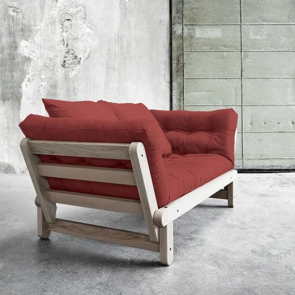 Sofa rozkładana Beat Beech/Passion Red