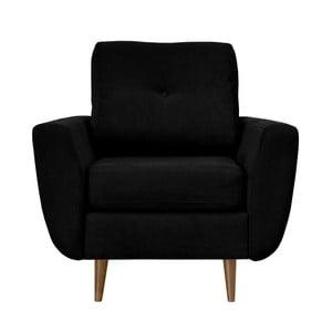 Czarny fotel z jasnymi nogami Mazzini Sofas Flower