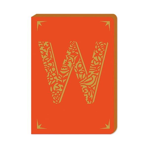 Notatnik w linie A6 z monogramem Portico Designs W, 160str.
